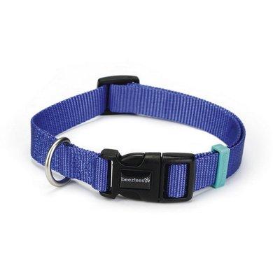 Beeztees Nylon Halsband Uni Blauw 20-30cmx10mm