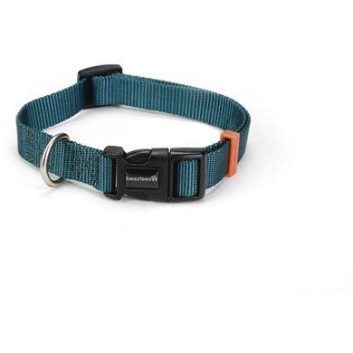 Beeztees Nylon Halsband Uni Dunkel grün