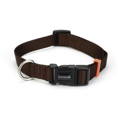 Beeztees Collar Uni Nylon Dark brown