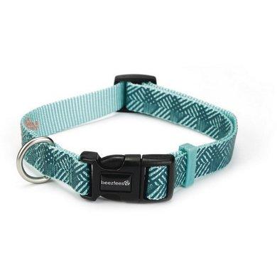 Beeztees Nylon Halsband Geo Donker groen