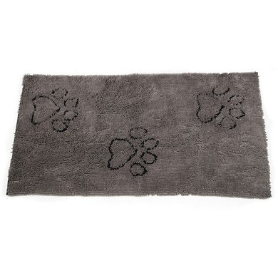 Dog Gone Smart Dirty Dog Droogmat Loper Grijs 152x76cm