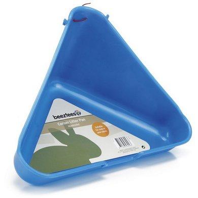 Beeztees toilet voor knaagdier en konijn hoekmodel blauw - Kleur voor toilet ...