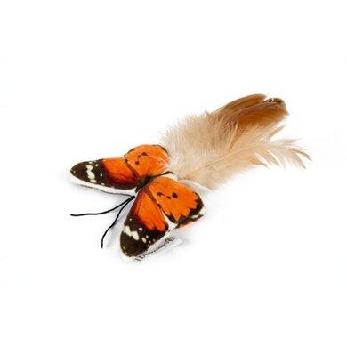 Beeztees Pluche Kattenspeeltje Vlinder Fligo Oranje 8cm