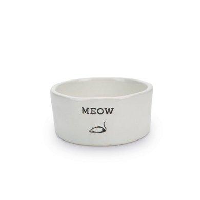 Beeztees Mangeoire Céramique Chat Meow Blanc 11,5x4cm