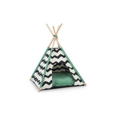 Beeztees Tipi Tent Kioni Zwart/Wit 50x50x80cm