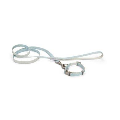 Beeztees Halsband + Lijn Tori Puppy Blauw 20-30cm x 10mm
