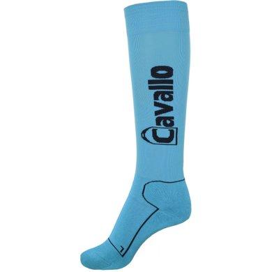 Cavallo Sokken SIMO Turquoise/Donkerblauw 40