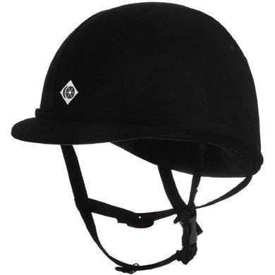 Charles Owen Safety Cap YR8 Sparkly Centre Round Black