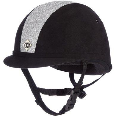 Charles Owen Safety Cap YR8 Sparkly Centre Round Black/Silver
