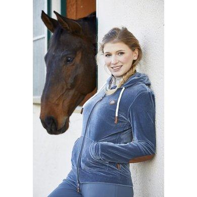 Covalliero Sweater Jas Bruna Dames Blauw XL