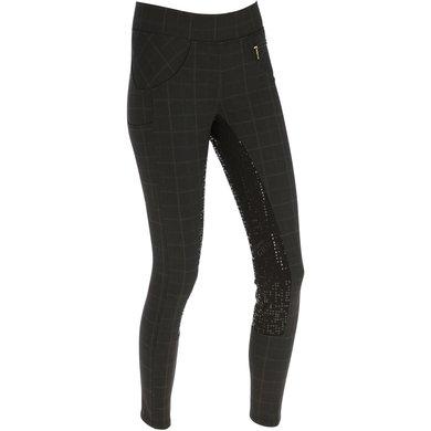 Covalliero Pantalon Équitation Check Dames Marron 38/40