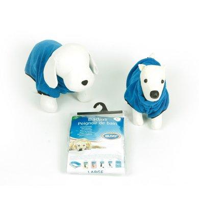 Duvo+ Badjas voor Hond Microfiber Blauw 40cm