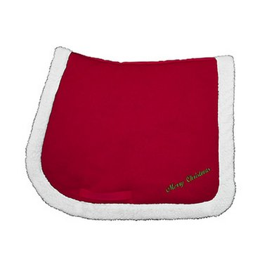 Agradi Saddle Pad Christmas Red Full