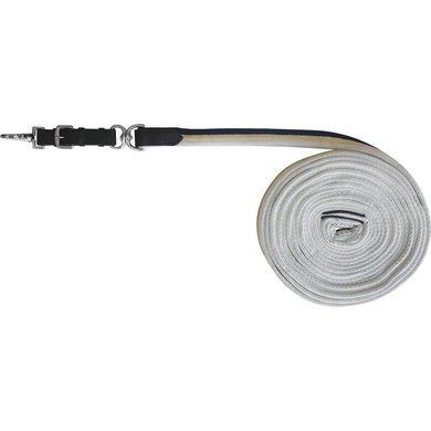 Excelsior Longeerlijn Gevoerd Lederen Navy/Beige/Wit 8m