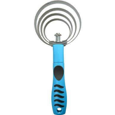 Hippo-Tonic Rosborstel Grip Metaal Neon Blauw 25x10,5cm