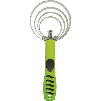 Hippo-Tonic Rosborstel Grip Metaal Neon Groen 25x10,5cm