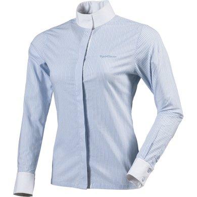 EquiThème Shirt Stripe Lange Mouwen Wit/Blauw