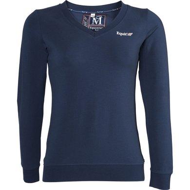 EquiThème T-Shirt Jersey Lange Mouwen Marine Blauw