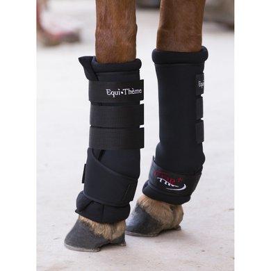 EquiThème Stal Bandages FIR+ Zwart Full