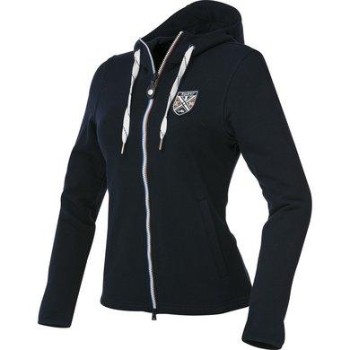 EquiThème Sweater Katoen met Rits Marine Blauw