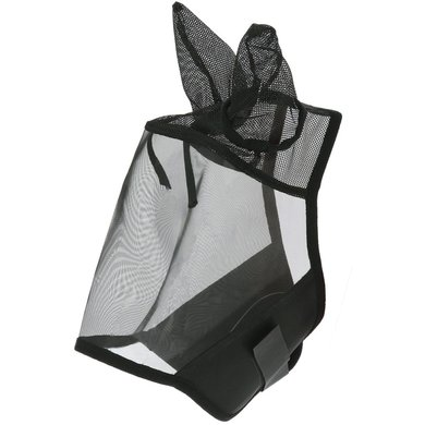 EQUITHÈME Vliegenmasker Earmesh met Oren Zwart Full