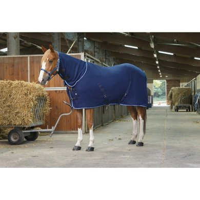 Riding World Fleecedeken Combo Navy/Blauw