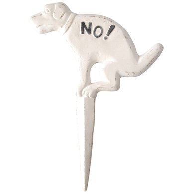 "Esschert Dog sign pooing ""No!"""