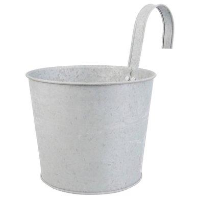 Esschert Old Zinc Flower Pot with Hook