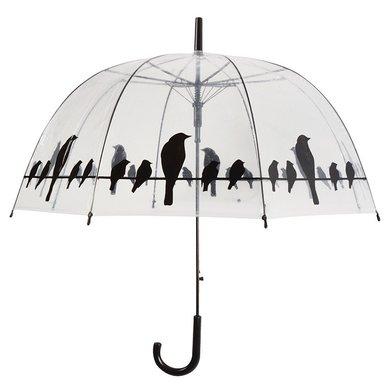 Esschert Schirm Transparent Vögel auf Draht
