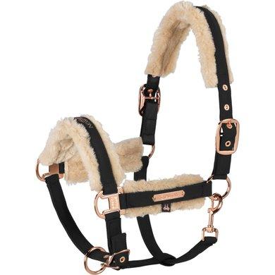 Eskadron Head Collar Softshell Faux Fur Black Pony
