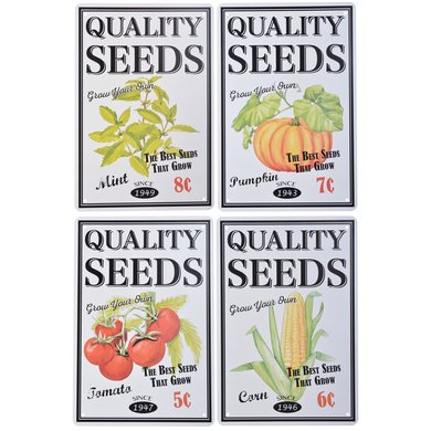 Esschert Borden bloem en zaden ass. 20,2x0,1x30,1cm