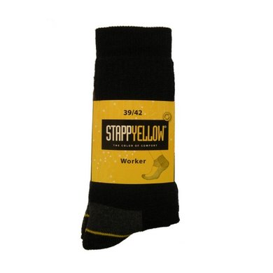 Planet 4415 Stapp Yellow Sok Worker Zwart