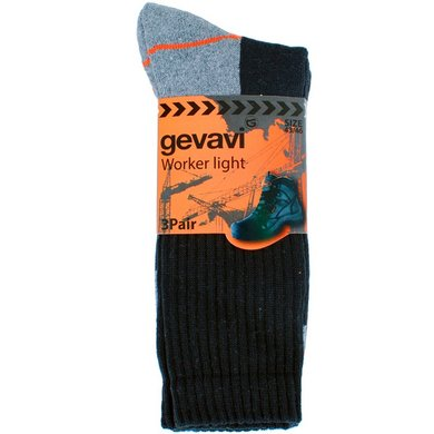 Gevavi Workwear GW80 Worker Light Socken Schwarz