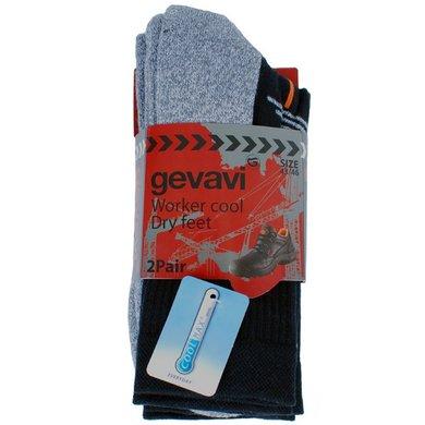 Gevavi Workwear GW81 Cool Socken 2 Paar Schwarz