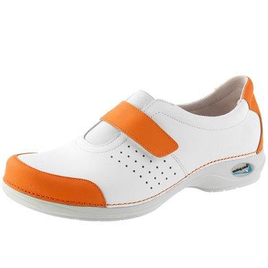 Wash & Go Clog Gesloten Wit/Oranje