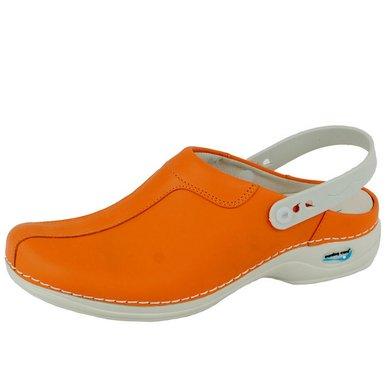 Wash & Go Clog Open Oranje