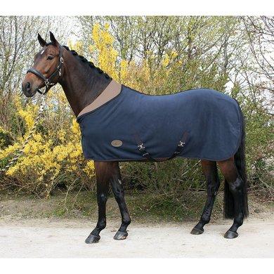 Harry's Horse Deken Teddyfleece Met Halve Hals Blauw