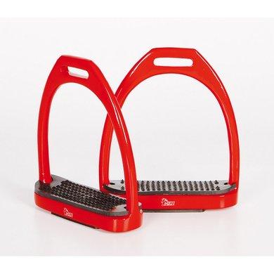 Harrys Horse Stirrups Aluminium Color Red