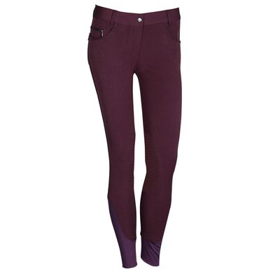 Harrys Horse Rijbroek Silicon Eastwood Prune Purple D42