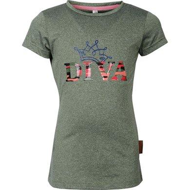 Harry's Horse Shirt Diva Camo Groen 128