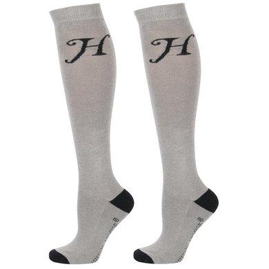 Harrys Horse Chaussettes Uni Gris