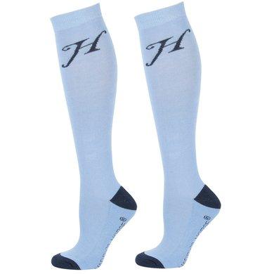 Harrys Horse Chaussettes Uni Bleu clair