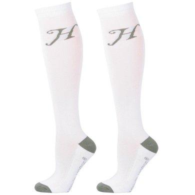 Harrys Horse Strümpfe Uni Weiß