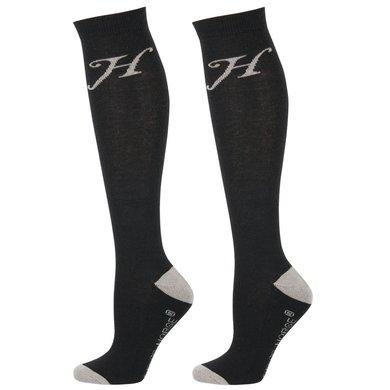 Harrys Horse Chaussettes Uni Noir