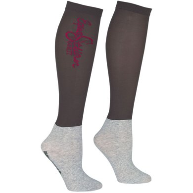 Harrys Horse Riding Socks Show WI21 3 Pack Ebony M