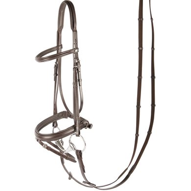 Harrys Horse Bridle Luxury Flash Noseband Brown
