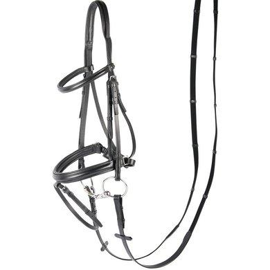 Harrys Horse Bridle Luxury Flash Noseband Black