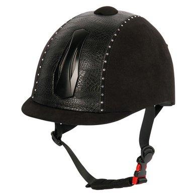 Harrys Horse Veiligheidscap Pro One Croco Crystal Zwart S