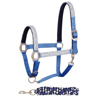 Harrys Horse Halsterset Granite Blauw pony