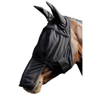 Harry's Horse Vliegenmasker met Oren en Neus Zwart